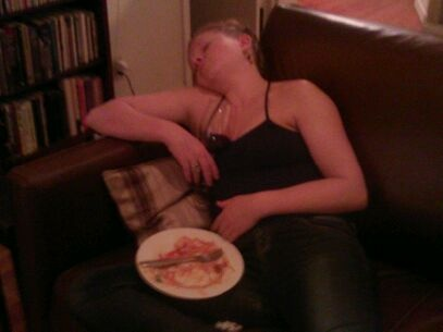 dinner passed out